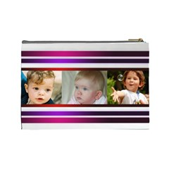 Pretty Stipes Large Cosmetic Bag (6 Photos) By Deborah   Cosmetic Bag (large)   Ymj274aet9qq   Www Artscow Com Back