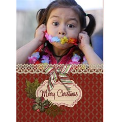 Greeting Card 5  X 7    Merry Christmas 3 By Jennyl   Greeting Card 5  X 7    P63juk7f9r16   Www Artscow Com Front Cover