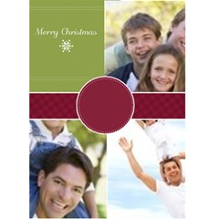 Christmas Card By Joely   Greeting Card 5  X 7    Zosasj3erk3r   Www Artscow Com Front Cover