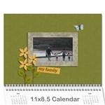 Calendar: My Family - Wall Calendar 11  x 8.5  (12-Months)