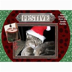 Festive 5x7 Christmas Card By Lil    5  X 7  Photo Cards   Oknf7986ko0o   Www Artscow Com 7 x5 Photo Card - 2