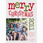 2011 Chirstmas Card - 5  x 7  Photo Cards
