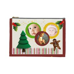 Christmas By Joely   Cosmetic Bag (large)   Bmufekm59mnv   Www Artscow Com Front