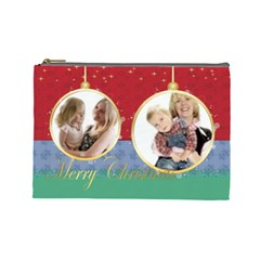 Christmas By Joely   Cosmetic Bag (large)   V6n52oyl2s15   Www Artscow Com Front