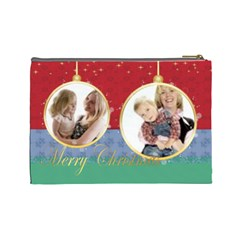 Christmas By Joely   Cosmetic Bag (large)   V6n52oyl2s15   Www Artscow Com Back