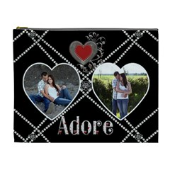 Adore Xl Cosmetic Bag By Lil    Cosmetic Bag (xl)   4bz6bmqhom5k   Www Artscow Com Front