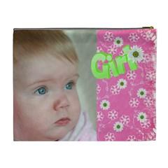 Girl Xl Cosmetic Bag By Deborah   Cosmetic Bag (xl)   X0f0tytdlf7l   Www Artscow Com Back