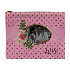 Cosmetic Bag (xl)  Pink Love By Jennyl   Cosmetic Bag (xl)   O8cvc1itl0kn   Www Artscow Com Front