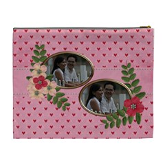Cosmetic Bag (xl)  Pink Love By Jennyl   Cosmetic Bag (xl)   O8cvc1itl0kn   Www Artscow Com Back