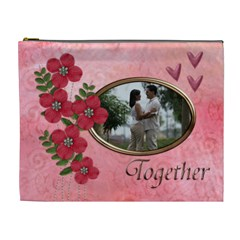 Cosmetic Bag (xl) : Together By Jennyl   Cosmetic Bag (xl)   N17z7rom12l8   Www Artscow Com Front