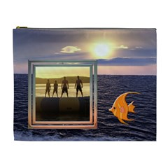 Ocean Memories Xl Cosmetic Bag By Lil    Cosmetic Bag (xl)   Y6fmprs57xyl   Www Artscow Com Front