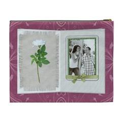 Pretty Card Xl Cosmetic Bag By Lil    Cosmetic Bag (xl)   Q5ej88tt1jzb   Www Artscow Com Back