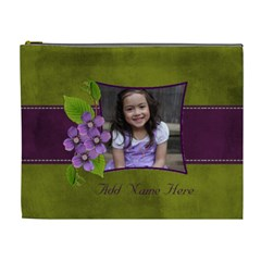 Cosmetic Bag (xl): Purple And Green  By Jennyl   Cosmetic Bag (xl)   Nj2joec95e9r   Www Artscow Com Front