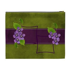 Cosmetic Bag (xl): Purple And Green  By Jennyl   Cosmetic Bag (xl)   Nj2joec95e9r   Www Artscow Com Back
