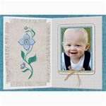 Pretty Blue Floral 5x7 Photo Card - 5  x 7  Photo Cards