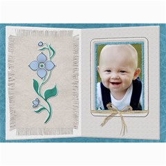 Pretty Blue Floral 5x7 Photo Card By Lil    5  X 7  Photo Cards   E2t000x05fxs   Www Artscow Com 7 x5 Photo Card - 4