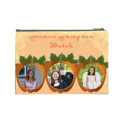 Pumpkin Patch Large Cosmetic Bag By Kim Blair   Cosmetic Bag (large)   Mhl8xqa2t45c   Www Artscow Com Back