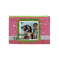 Merry Christmas By Joely   Cosmetic Bag (medium)   8tue3ov24sd3   Www Artscow Com Back