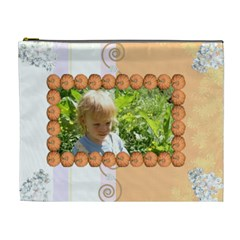 Pumpkin Frame Extra Large Cosmetic Bag By Kim Blair   Cosmetic Bag (xl)   Qpgbptwpuqtu   Www Artscow Com Front