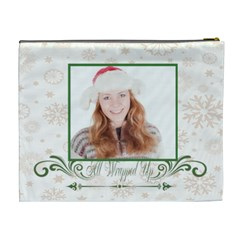 Merry Christmas By May   Cosmetic Bag (xl)   Zvnmgl70gqm5   Www Artscow Com Back
