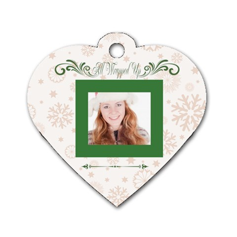 Merry Christmas By May   Dog Tag Heart (one Side)   8w8rl7430l3y   Www Artscow Com Front