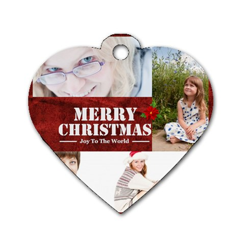 Merry Christmas By May   Dog Tag Heart (one Side)   Okbxih6ukrdl   Www Artscow Com Front