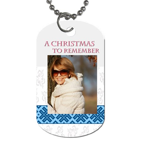 Christmas By May   Dog Tag (one Side)   K1887c1tfm61   Www Artscow Com Front