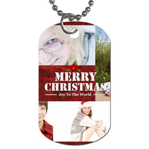 Christmas By May   Dog Tag (one Side)   2pbi8gj2qrof   Www Artscow Com Front