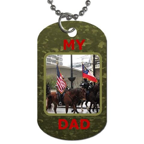 My Dad Dog Tag By Deborah   Dog Tag (one Side)   Lh10xslf9vtu   Www Artscow Com Front