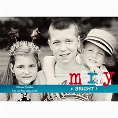Merry & Bright Christmas Card By Lana Laflen   5  X 7  Photo Cards   3cljhj3ebf4r   Www Artscow Com 7 x5 Photo Card - 2