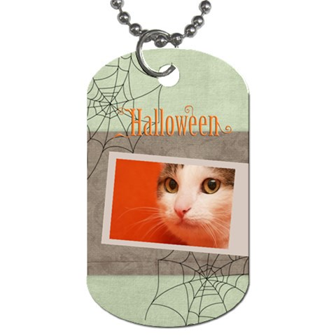 Halloween By Joely   Dog Tag (one Side)   9o8ho6jy8m6j   Www Artscow Com Front