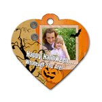 halloween - Dog Tag Heart (One Side)