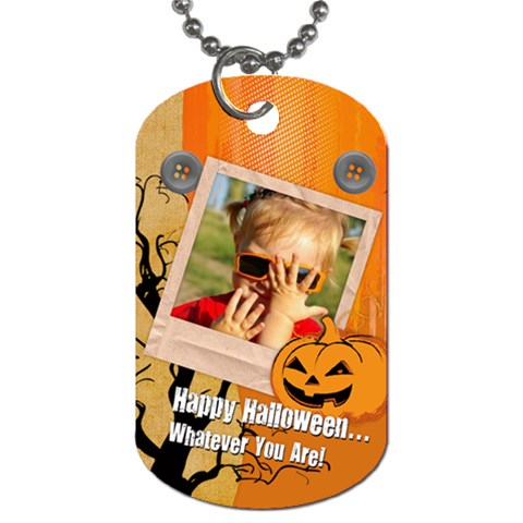 Halloween By Joely   Dog Tag (one Side)   H5f8zsoz78iz   Www Artscow Com Front