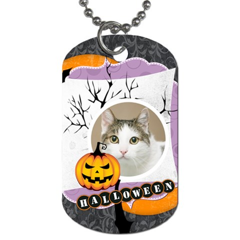 Halloween By Joely   Dog Tag (one Side)   Lqcmahst8k6p   Www Artscow Com Front