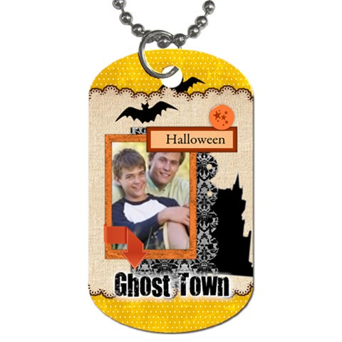 Halloween By Joely   Dog Tag (one Side)   6r6njziy5v5u   Www Artscow Com Front