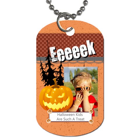 Halloween By Joely   Dog Tag (one Side)   Vu18ybdoupv0   Www Artscow Com Front