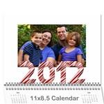Calendar 2012 - Wall Calendar 11  x 8.5  (12-Months)