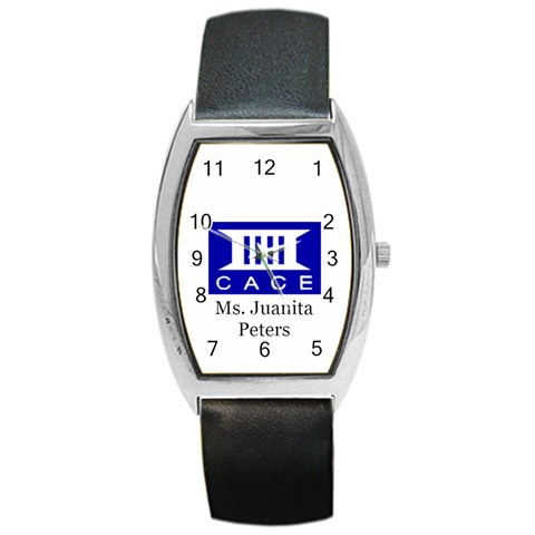 Cace Example Watch With Text By Chantel Reid Demeter   Barrel Style Metal Watch   5s4z46970rk4   Www Artscow Com Front