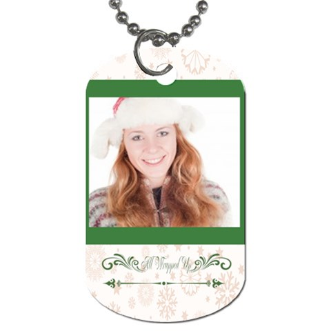 Christmas By May   Dog Tag (one Side)   Tfbdrjw1seyf   Www Artscow Com Front