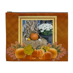 Pumpkin Delight Xl Cosmetic Bag By Lil    Cosmetic Bag (xl)   Y77fdnw3j3hm   Www Artscow Com Front