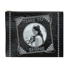 Time To Shine Xl Cosmetic Bag By Lil    Cosmetic Bag (xl)   Wt6dobzfzfu0   Www Artscow Com Front