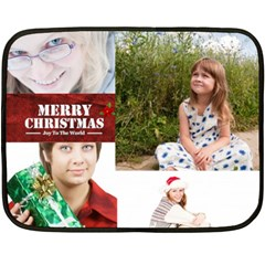 Christmas By May   Double Sided Fleece Blanket (mini)   Ca1c2rbqworg   Www Artscow Com 35 x27 Blanket Front