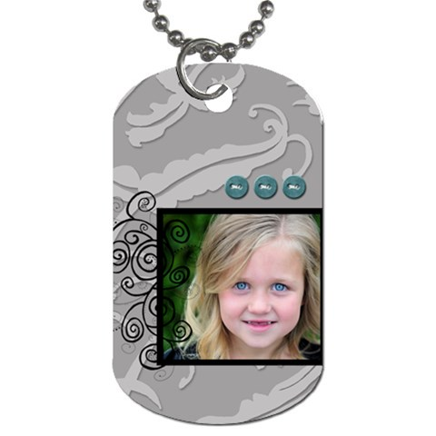 Twirl Framed Tag By Amanda Bunn   Dog Tag (one Side)   Bl1lddkuidtg   Www Artscow Com Front
