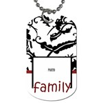 Family Framed Tag by Amanda Bunn - Dog Tag (Two Sides)
