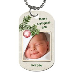 Christmas Gift Tag 2 Sided By Laurrie   Dog Tag (two Sides)   W0a34kisonex   Www Artscow Com Front