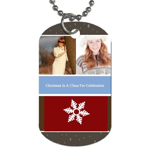 Merry Christmas By May   Dog Tag (one Side)   Lq6vm0glg61x   Www Artscow Com Front