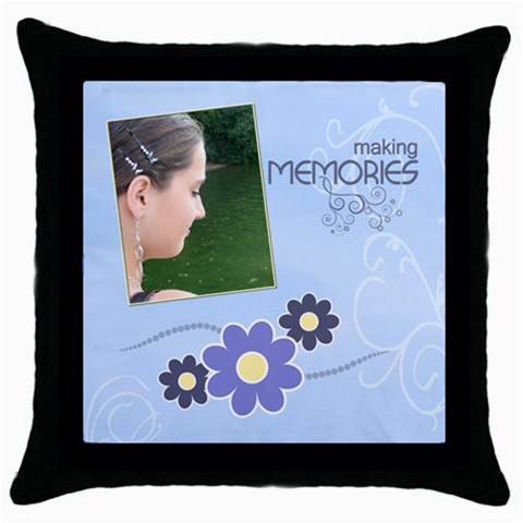 Serenity Blue Throw Pillow Case By Picklestar Scraps   Throw Pillow Case (black)   H94msgywbejl   Www Artscow Com Front