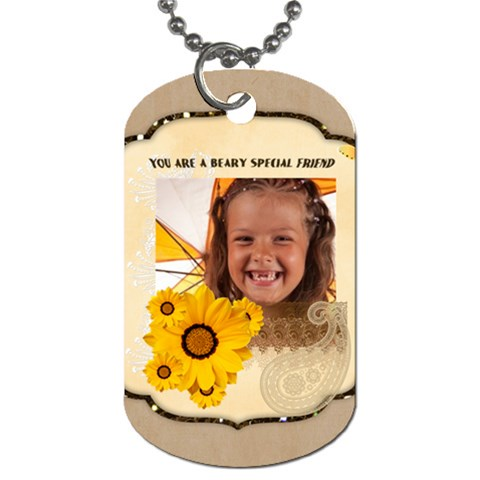 Friendship By Joely   Dog Tag (one Side)   Beonmm83ekx1   Www Artscow Com Front