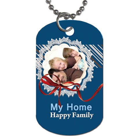 Family By Joely   Dog Tag (one Side)   Dtpzbxjak1f5   Www Artscow Com Front