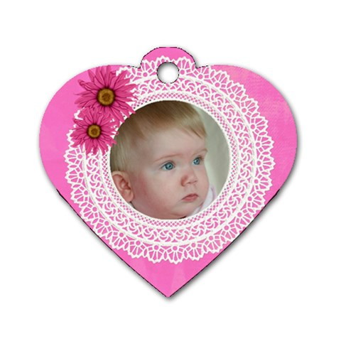 My Little Princess Heart Dog Tag By Deborah   Dog Tag Heart (one Side)   Othbva9onrqw   Www Artscow Com Front